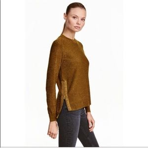 H&M conscious gold side zip sweater